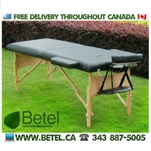 WWW.BETEL.CA | Premium Portable Massage Spa Tattoo Reiki Table Bed with Bag & Accessories