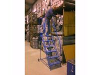 Klime-ezee Industrial Mobile Steps with Double Handrails - 300 Kg Capacity RRP 375