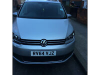 PCO volkswagen Touran with Warranty.1.6 64 reg diesel manual silver,only10k miles,