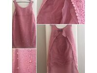 Pink rose dress- size 8/10, perfect for wedding