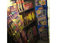 Fireworks for sale, instore only. Top Quality Spook fireworks. Great deals and offers