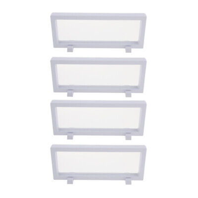 4x 3d Floating Jewelry Display Frame Case Box Coin Display Stand Rack 9x23cm