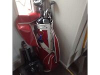 Full set of clubs bag and trolley