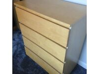 IKEA Malm 4 draw chest