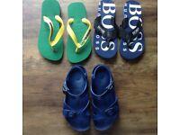 Excellent Condition Boys x3 pairs flip flops size 29-30