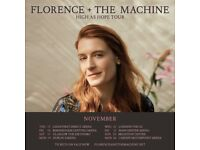 2x Florence & the Machine standing tickets, Manchester Arena, Friday 23rd November 2018