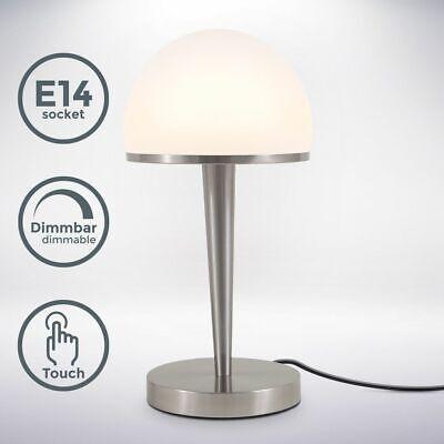 Lámpara de Mesa Táctil Mesita Noche Escritorio Cristal Oficina E14