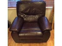 Real leather recliner 3, 1, 1 Sofa, arm chairs