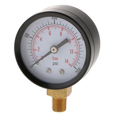 New 0-200psi0-14bar Pressure Gauge Meter Manometer Gas Water Oil Pressure