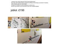 Company name + sign and stationary