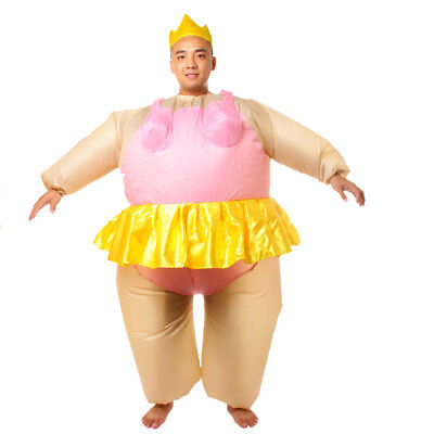 Ballerina Fat Suit (Funny Inflatable Ballerina Fancy Dress Costume Fat Suit Stag Night)