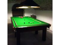 Slate bed snooker table 3/4 size
