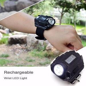Super Bright Wrist LED Light Rechargeable Waterproof LED Flashlight Watch