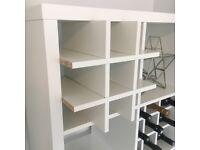 Wine rack insert for Ikea Kallax / Expedit storage cube unit in white