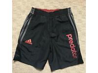 New Adidas Predator Black Shorts - Size 11-12