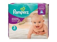 BNIB Pampers Premium Protection Active Fit Nappies Size 3, 204pk £15 (would be £18 for 148pk @Tesco)