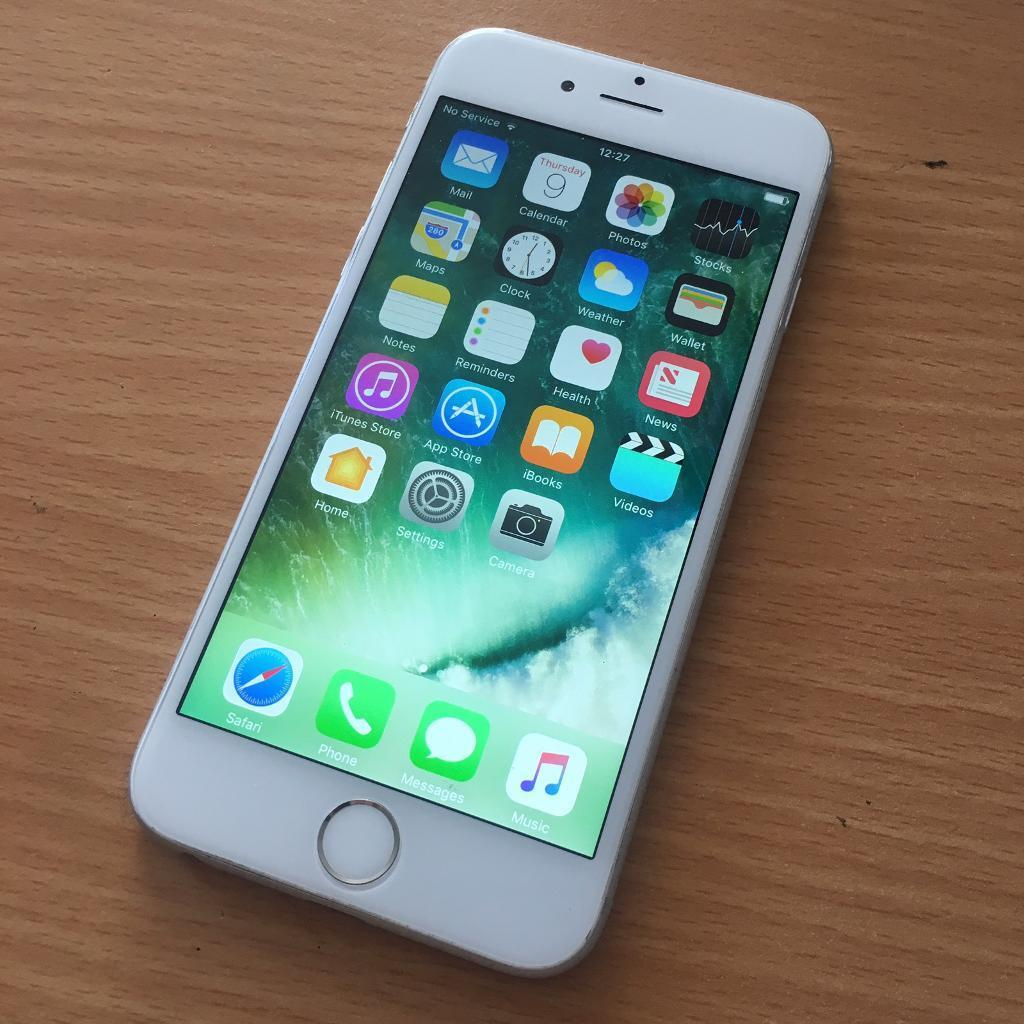 iphone 6 silver white 16gb on vodafone network accessories bundle in reading berkshire. Black Bedroom Furniture Sets. Home Design Ideas