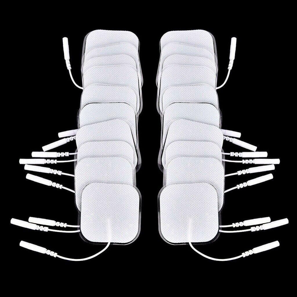 24x TENS Elektroden Pads selbstklebend für TENS EMS Reizstrom Gerät, 5x5cm 2mm