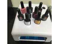 Nail dryer with shellac nail gels