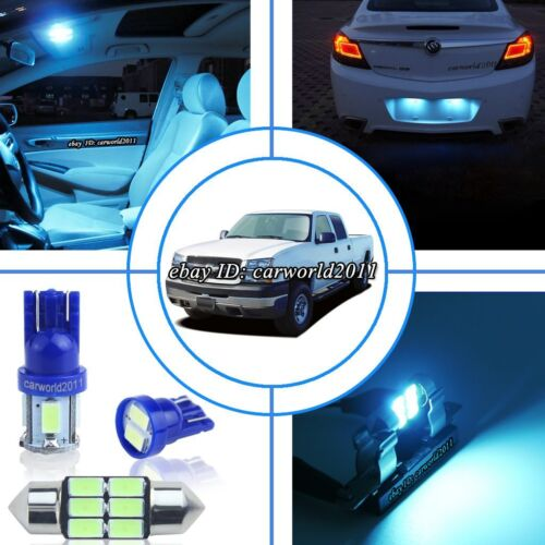 17x Aqua Ice Blue LED Interior Dome Light Package Kit For Chevy Silverado 99~06