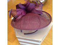 Beautiful purple hat with hat box