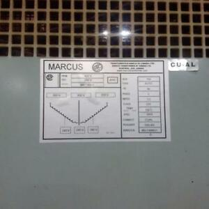 Marcus Transformer 150 KVA, 600 to 240 Volts