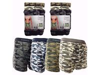 Mens Rib Boxer Shorts Camouflage Boxers Single Jersey Briefs/Boxers for Commercial Buyers Wholeslers