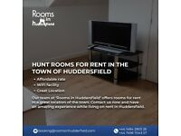 Hunt Rooms for Rent in the town of Huddersfield