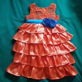 New and handmade party dress. 5-6year