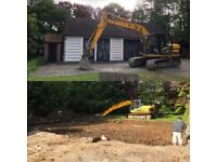 13-16 ton digger hire with driver