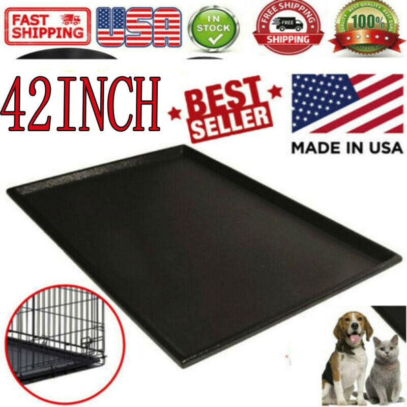Pet Dog Crate Replacement Pan Plastic Liner Repl Tray 42 Inc