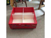 Childrens Handmade Toy Storage Cube Unit / Book Box on Wheels