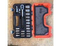 Bahco S-240, 24 Pieces Socket Set 1/2 in Square Drive