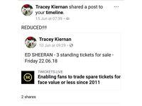 Ed Sheeran Cardiff 22nd June