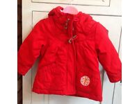Girls Red Winter Coat 18-24 Months