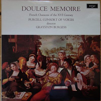 ZRG 667 Doulce Memoire French Chansons of the XVI Century / Purcell Consort o...