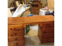pine 8 drawer storage and study unit