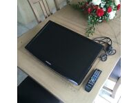 "22"" SAMSUNG LCD TELEVISION / TV / MONITOR - BLACK - HD READY"