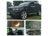 Swap or sale Bmw x5 e53 sport estate black,tuning,xenon,20' M alloys, leather,exhaust,sub