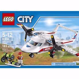 Lego 60116 City ambulance plane