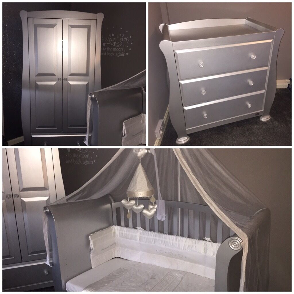V I B Silver Nursery Furniture