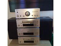 Denon separates with kef coda 7's speakers