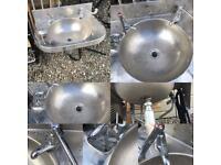 Stainless steel vintage industrial sink
