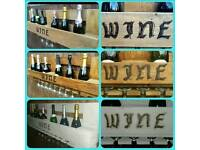 Rustic handmade wine rack. 100% reclaimed wood