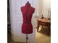 Petite dressmakers manequinn dummy like new red adjustable sewing craft hobbies
