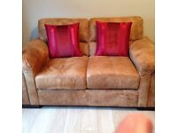 2 Seater Sofa with Chair & Footstool