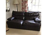 Arighi bianchi leather G plan sofa