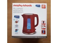 Morphy Richards Brita Filter Kettle Red Accents