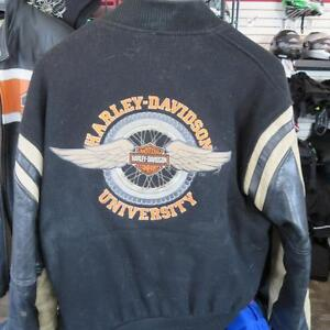 Harley Davidson Leather Motorcycle Bomber Jacket