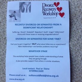 Divorce Recovery Workshop Sutton Coldfield - starts end Feb 2017